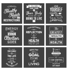 Health typography quotes vector