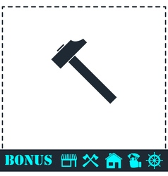 Hummer icon flat vector
