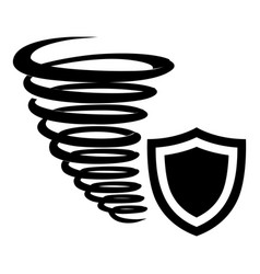 hurricane protection icon simple black style vector image