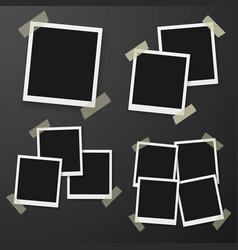 instant photo photorealistic eps10 retro instant vector image vector image