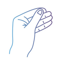 line person hand with finger and figures vector image vector image