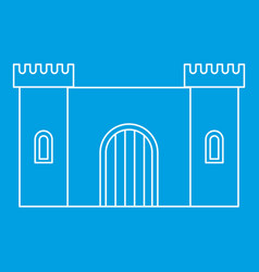 Old fortress towers icon outline style vector