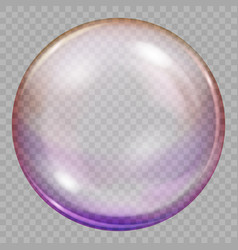 One big multicolored transparent soap bubble vector