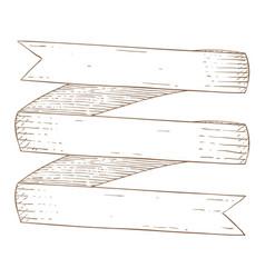 Ribbon band hand drawn sketch vector