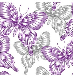 seamless pattern with decorative purple vector image