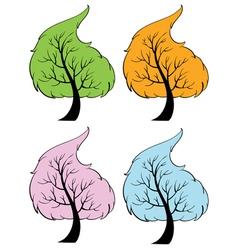 Seasonal trees vector