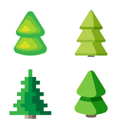 Set of 3d fir trees vector