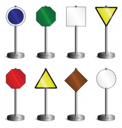 signs on post vector image