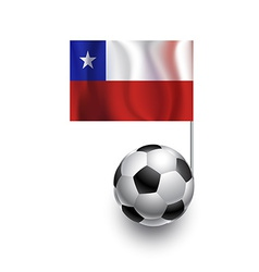 Soccer balls or footballs with flag of chile vector