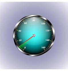 Speedometer shows ten speed vector