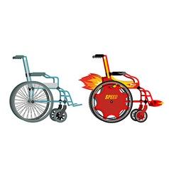 Standard and custom wheelchair armchair with turbo vector