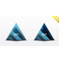 Triangle business design element vector