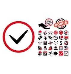 Valid flat icon with bonus vector