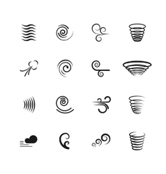 Wind motion icons set vector image