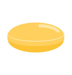 yellow candy isolated lollipop on white vector image