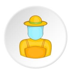 Apiarist icon cartoon style vector image