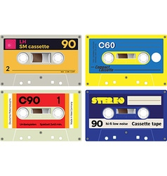 Audio cassette records vector
