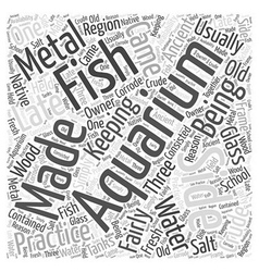 Aquarium acrylic care kit word cloud concept vector