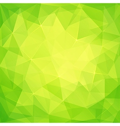Abstract triangles green background vector