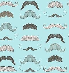 Hand Drawn Mustache Seamless Pattern vector image
