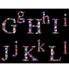 alphabet set 2 vector image