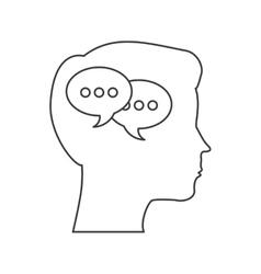 Human head and bubble icon blog concept vector