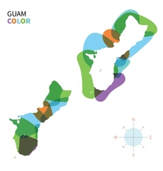 Abstract color map of guam vector