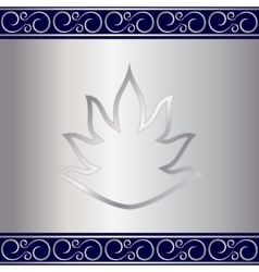 abstract silver plate background with vignettes vector image