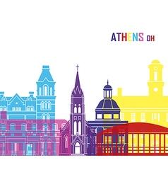 Athens oh skyline pop vector