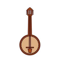 Banjo jazz instrument musical festival celebration vector