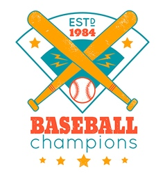 Baseball retro poster with blue base vector