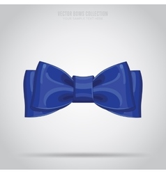 Blue bow isolated vector