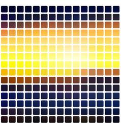 blue yellow orange black rounded mosaic vector image vector image