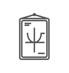 Class poster isolated icon in linear style vector