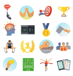 Competition icons set vector