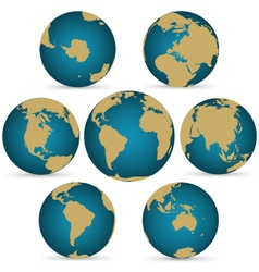 Continent on Rotatable Globe vector image vector image