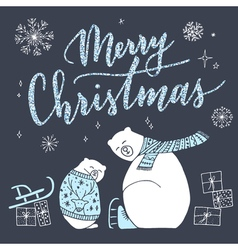 Cute christmas card vector image vector image