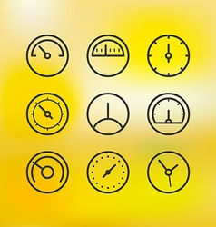 Different slyles of speedometers collection on vector image vector image