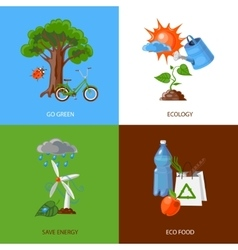 Ecology design concept vector image vector image