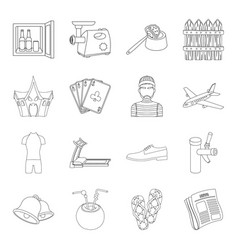 fitness sport transport and other web icon in vector image