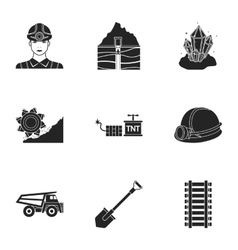 Mine set icons in black style big collection of vector