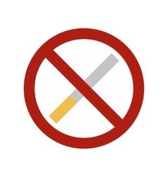 No smoking sign flat icon vector image
