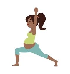 Pregnant woman character sport vector