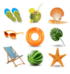 Realistic summer holidays vector