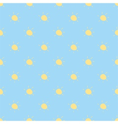 Seamless summer pattern or sunny background vector image vector image