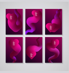 set of banners with abstract colorful design on vector image vector image