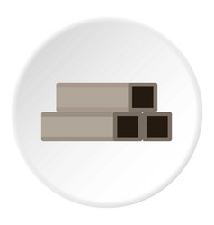 square metal tubes icon circle vector image