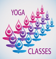 Yoga classes icon background vector image