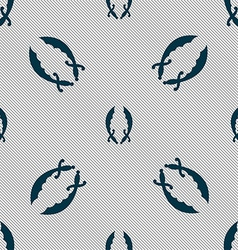Saber sign seamless pattern with geometric texture vector