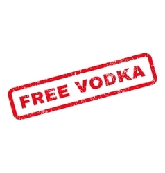 Free vodka text rubber stamp vector